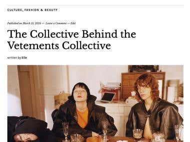 The Collective Behind the Vetements Collective