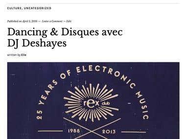 Dancing & Disques avec DJ Deshayes