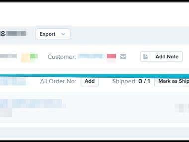 Shopify Order Fulfilling