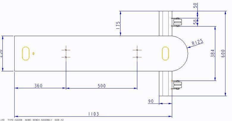 Designing of exercise bench for gym | Freelancer