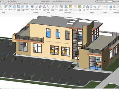 Revit architect modeling and drawing