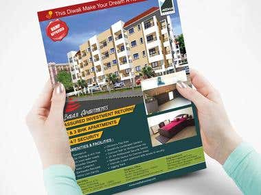 Flyer design for Balaji Apartments