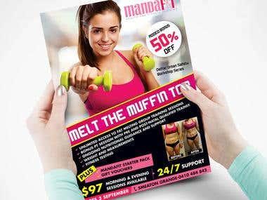 flyer for mandafit