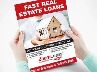 flyer designf or zoom loans
