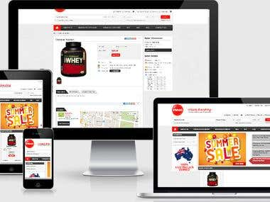 Multivendor Magento website