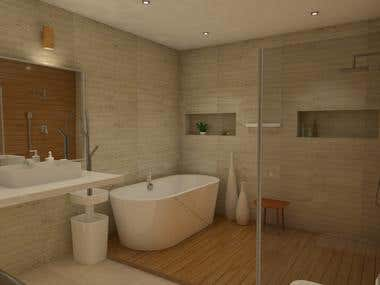 Full bathroom in 3D
