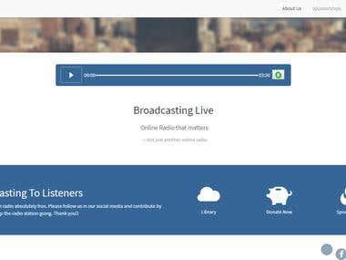 Live sound website development on PHP