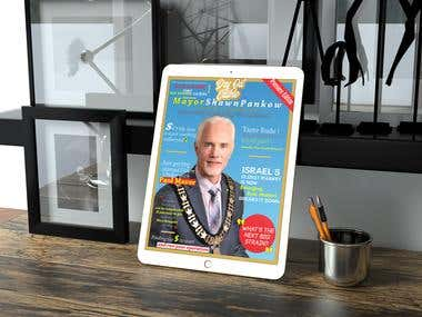 Digital magazine cover online for website LinkedIn