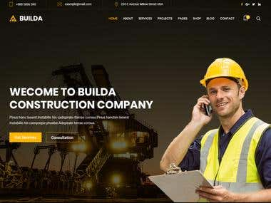 Builda Construction PSD Template