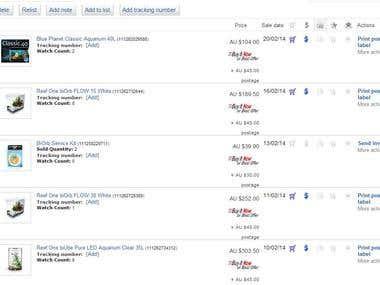 eBay product adding