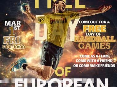 SPORTS EVENT POSTER(European Handball)