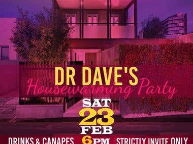 PARTY INVITE DESIGN