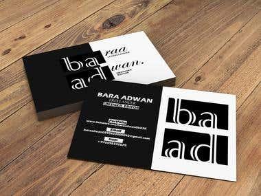 a business card.