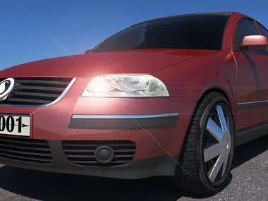 Car Render Maya