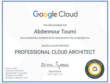Professional Google Cloud Architect