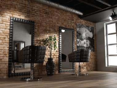 Visualisierung Frieseuer Salon