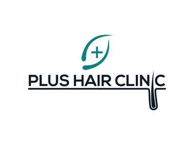 Logo design for plus hair clinic
