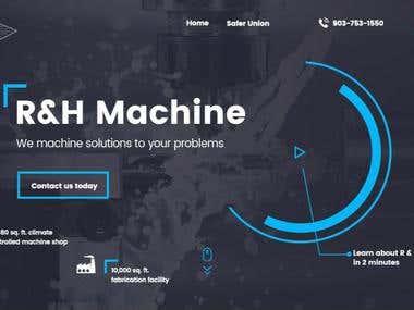Website design for USA based company R&H Machine LLC