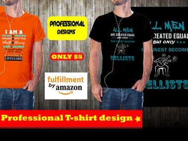 I Will Do Amazing Tshirt Design Based On Your Idea Within 10