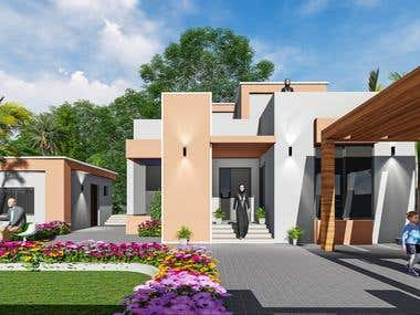 Exterior Villa Design in Oman