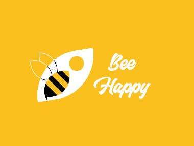 bee happy logo