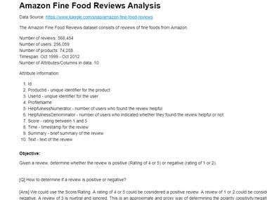 Amazon-Fine-Food-Reviews