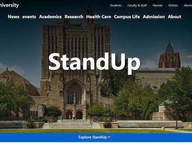 University Website Theme