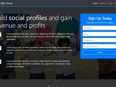 A Social Media Website Theme