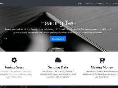 A Multipage Company Website