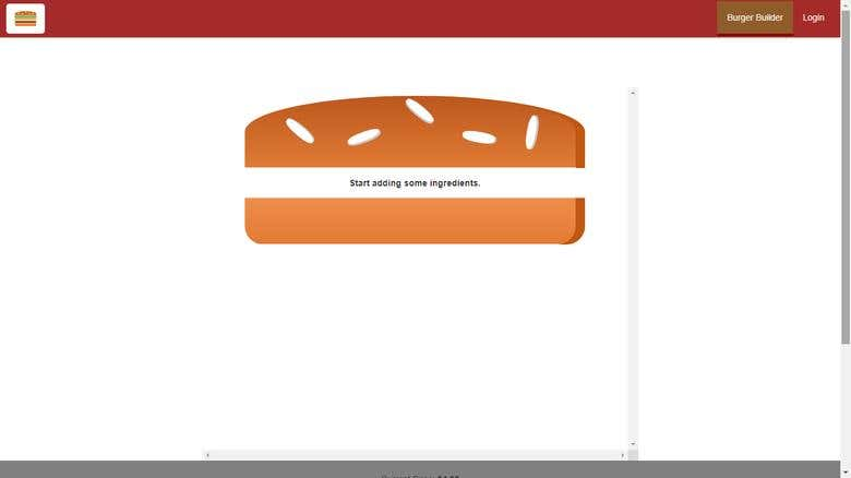 A React Js - Burger Builder Application | Freelancer