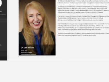Dr Lee Allison Portfolio