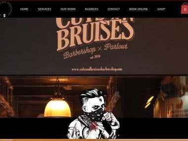 Ecommerce wix website for Barber