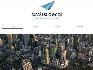 Aerial media website on wix