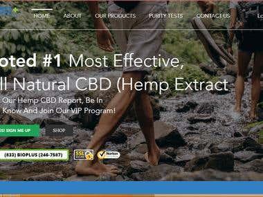Medicine website on wix