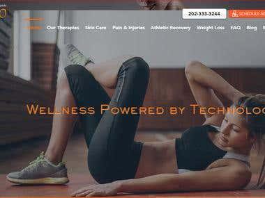 Wellness website on wix