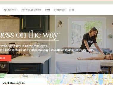Massage website on shopify