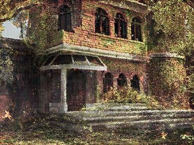 Abandoned house Concept Art