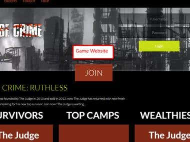 Crime Wise Game Landing Page