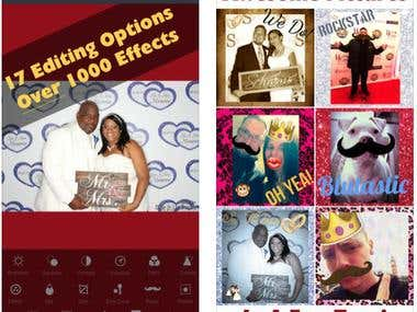 Photo Booth, Editor app