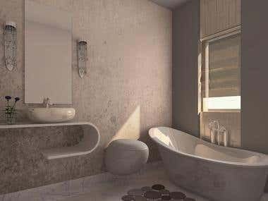 Bathroom modeling and render