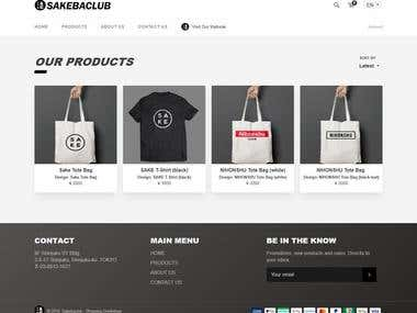 Custom E-Commerce Shop With Multi Language