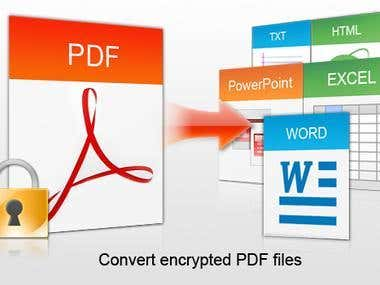 My copy writing and pdf converting