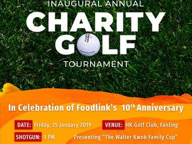 Poster for Charity Golf Tournament