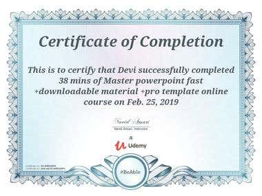 Power Point Certificate 2