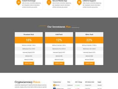 .......... Website Design .......... CryptoCurrency Website
