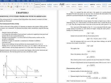 Data Entry - Equations