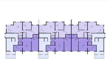 Apartment layouts. AutoCAD