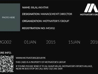 Motivators Group | Job Card Design