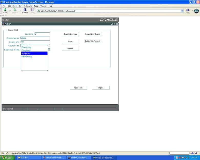 AMEDA University | Management Software Oracle Forms PLSQL | Freelancer