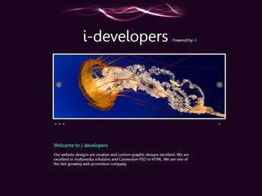 I-Dev | HTML CSS JS PHP Active form Based Website Template